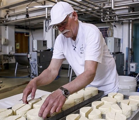 Berømt: «Blakerosten» var Norges første camembert og var godt kjent over store deler av landet. Geirfinn Lund jobbet i Blaker Meieri før det stengte dørene, og kjenner produksjonen godt. foto:  ola sendstad