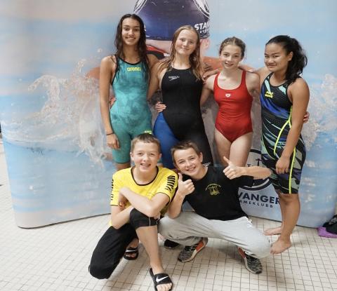Flere av Sola svømmeklubb sine talenter utmerket seg under Skagerrak swim. Bildet er fra et tidligere stevne i fjor høst.