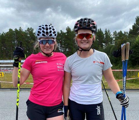 4. og 6.: Marit Øygard er første års senior i skiskyting. Tea Snortheimsmoen er første års senior i langrenn. Lørdag konkurrerte de mot hverandre i sprintrennet på Geilo. Marit ble nr. 4 og Tea nr. 6.