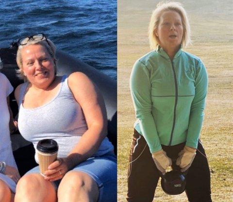 Her er bilder før og etter, som Lene har postet på Instagram.