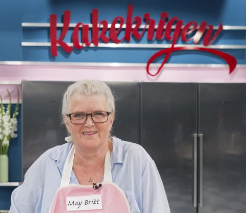 KAKEKRIGEN: På mandag kan du sjå May Britt Haslam frå Isdalstø på skjermen som deltakar i «Kakekrigen».FOTO: Discovery