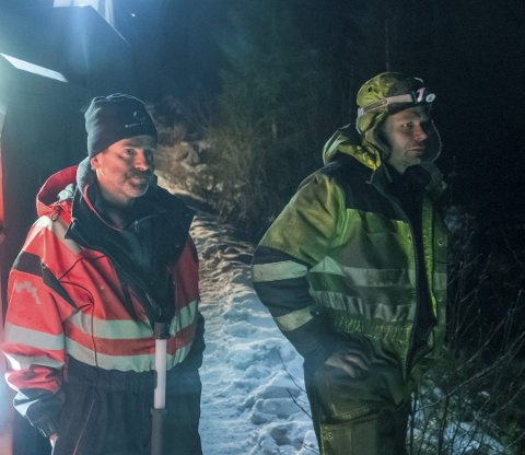Bjørn Lægreid (til venstre) er kjent fra TV-serien Vinterveiens helter. Her står han sammen med kollega Thord Paulsen