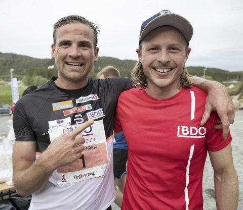 Vinner: Skilandslagets Niklas Dyrhaug (t.v.) endte på 5. plass og måtte se seg slått av blant andre vinner Kristoffer Hjelmeland fra Norna-Salhus.
