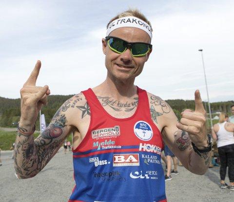Trening: Løpet var også for de konkurrerende, som ultrakongen Bjørn Tore Taranger. – Jeg tar det som oppkjøring og trening, sier han.