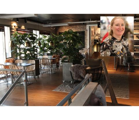 STENGT: Laurdag held Kafe Aroma stengt etter at ein kunde som viste seg å vere koronasmitta var innom. Eigar Hilde Eliassen fortel at dei har vore i kontakt med smittevernoverlegen for å forsikre seg om at dei gjer alt rett.