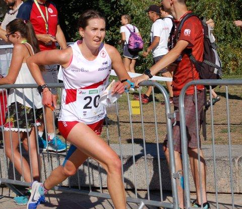 Sigrid Alexandersen på vei inn til 18.-plass i VM-sprinten.