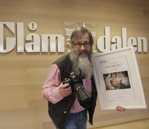 TOK ÅRETS BILDE: Glåmdalens Jens Haugen stakk av med prisen for beste bilde 2017.