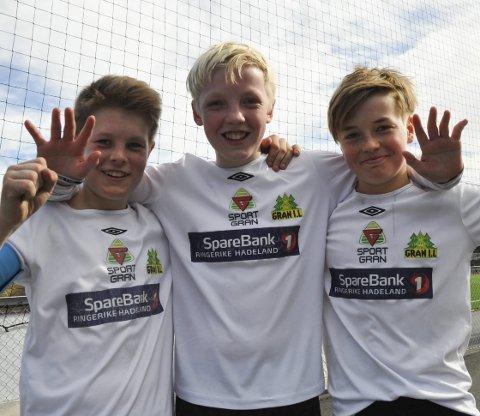 Trio: Vemund Wøien, Jonas Stensli og Tobias Kolkinn Nerland var alle sentrale da Rælingen ble slått 2–0 under Sparebank1 cup søndag.