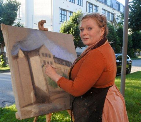 KUNSTNER: Endelig fikk Trine Folmoe malt noe som står stille.