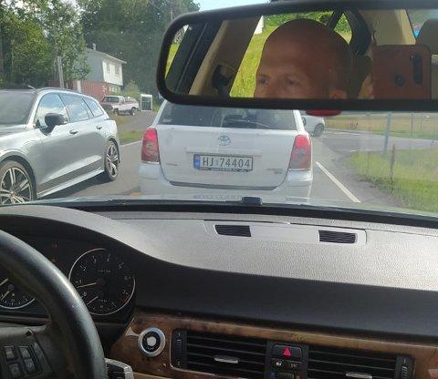 BILJAKT: Marianne Kleiva fikk plutselig øye på sin egen bil. Da kjørte hun etter. Bilen ble senest observert i Nøtterøy/ Tjøme-området på mandag.