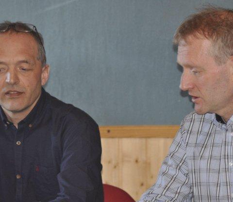 TORSFJORDEN: Flakstad-rådmann Erling Sandnes foreslår at Dag Walle (t.h.) blir en kommunens to medlemmer i arbeidsgruppen.