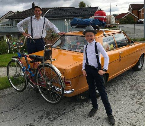 KLAR FOR LOFOTEN: Her er Frode og Vebjørn klar for avreise til Lofoten.