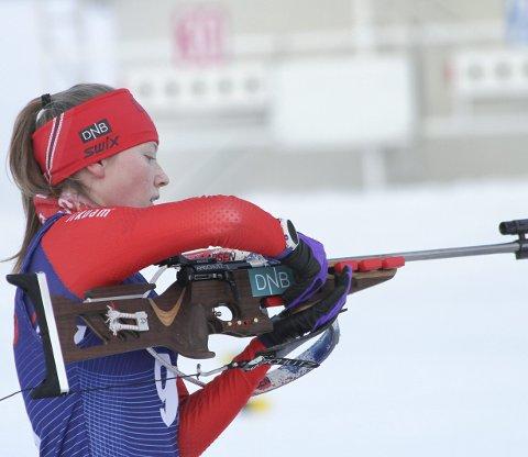 Km-vinner: Emilie Katrine Bilgrav Sæter synes det gikk litt tyngre lørdag enn under Norgescup-helga forrige helg, men det holdt til KM-gull allikevel.  foto: Henrik Hornnæss