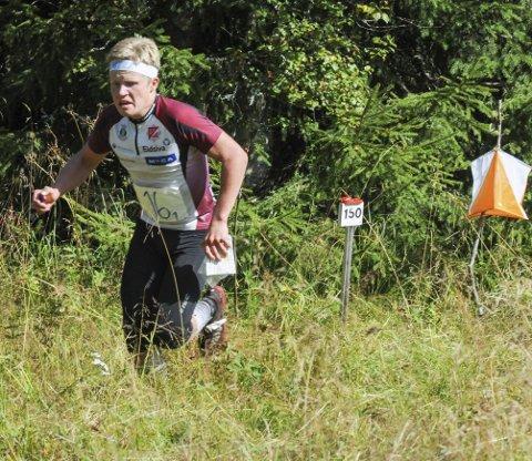 Løp til gull: Elias Öhman knep KM-gullet i H17-18 med et snaut halvminutts margin. Foto: Tommy Gullord