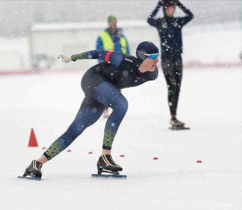 Sander Eitrem fra Skreia deltok på laget som tok gull i LM på Valle Hovin i Helga. Foto: Eivind Flensborg