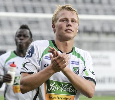 HBK: Sigurd Svendsen i aksjon for Hønefoss BK i 2015.