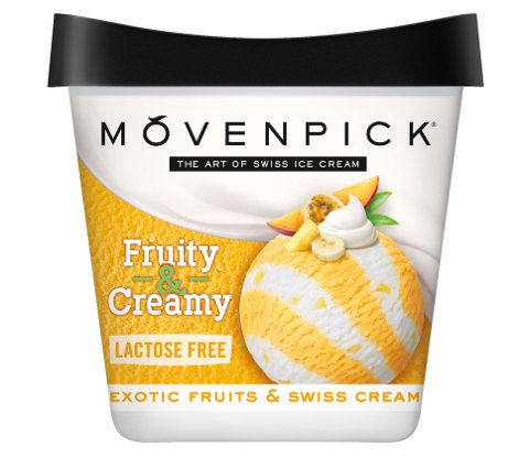 Mövenpick Exotic Fruits er laktosefri.