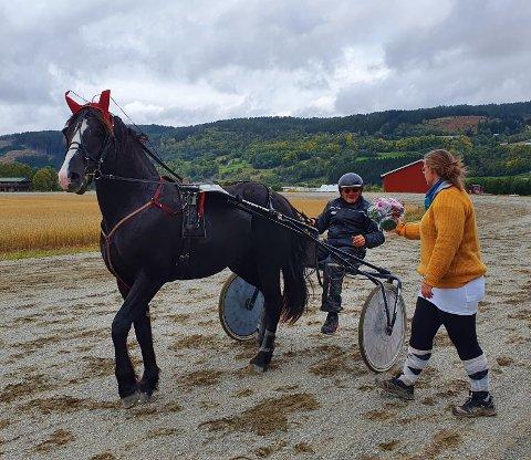 Stensvik Emil og eier Gaute Inge Helseth gjorde en flott figur i toårsløpet.