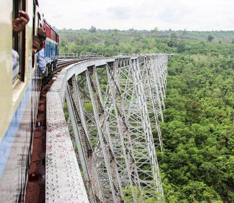 The Gokteik viaduct: En spektakulær opplevelse på skinner gjennom Myanmar.