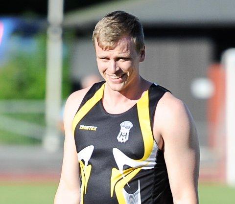 BRA KAST: Christer Stenersrød vant treningsstevnet med et bestekast på 65,83 meter.