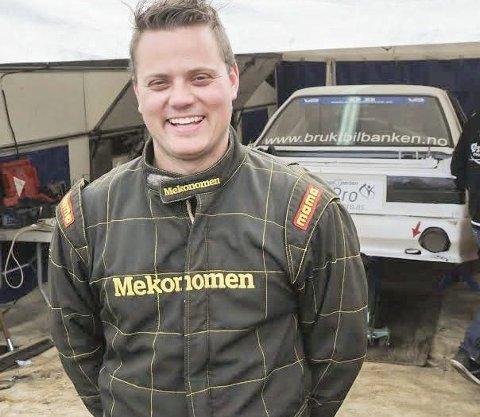 KLAR:  – Det blir full fyr under lørdagens avsluttende NM-runde, sier Hans-Jøran Østreng som leder rallycross-NM sammenlagt. Foto: Trym Helbostad