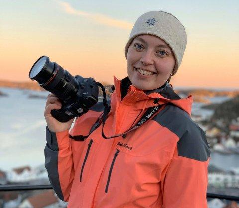 STARTET UNG: Astrid Marie Årdal har hatt interesse for foto i mange år.