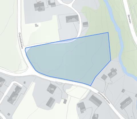 Eiendommen: Desembers dyreste eiendom ligger innenfor det blå feltet på kartet.