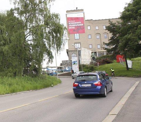 Kongsveien: Kan få redusering fra 70 til 50 km/t.