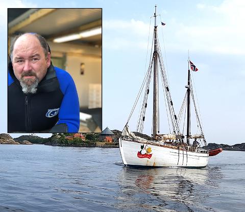 HAVET: Denne uken dro stabben til Richard til sjøs sammen med mannskapet på denne skuta.