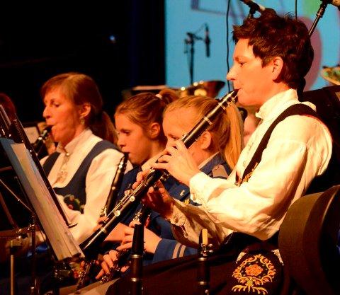 Klarinettister i Hallingby skolekorps.