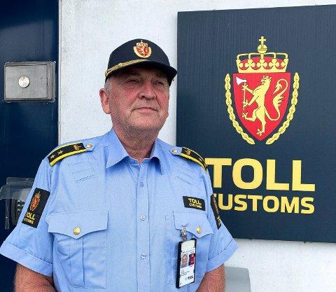 SEKSJONSSJEF:  Sven-Øystein Wagn Ferstad ved Sandefjord Tollsted og hans folk har i juni og juli gjort rundt 30 beslag.