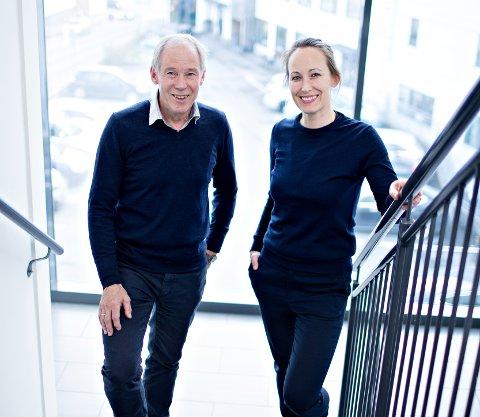 Prosjektleder Dagfinn Storvik og daglig leder Dordi M. Storvik i Hamsto AS gleder seg til å ta fatt på oppgaven med nytt kulturhus i Kristiansund.