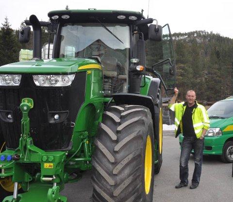 På merketoppen: John Deere er udiskutabel i tet når det gjelder traktormerke lokalt i øyeblikket. Arkivfoto: Geir Helge Skattebo