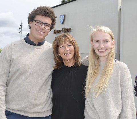 Rådet: Younes L. Stengel og Hanna Elisabeth Svendsen med ordfører Ann Sire Fjerdingstad (i midten)