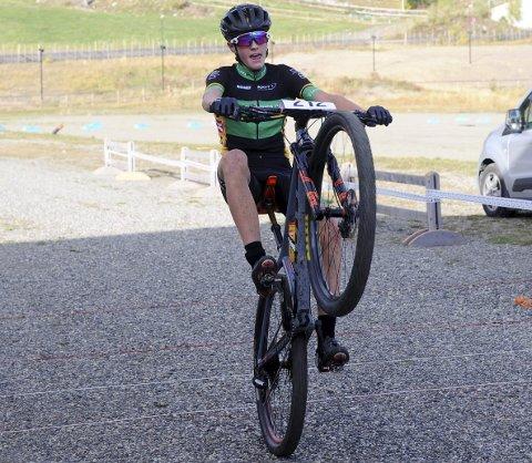 15-åringen Sjur Holm Grøneng fra Lillehammer Cykleklubb var suveren i det siste rittet i GD-cup på sykkel. Han vant også sammenlagt. Alle foto: Hans Bjørner Doseth