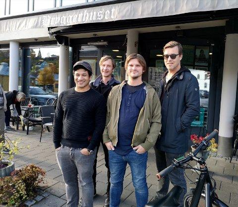 KONSERT: Det nyoppstartede bandet The Phrenic og Yonakit skal spille konsert på Bryggerhuset Syd førstkommende lørdag. Fra venstre: Anoop Chowdhury, Christian Ebeltoft, Lars-Remy Hansen og Espen Holtan.
