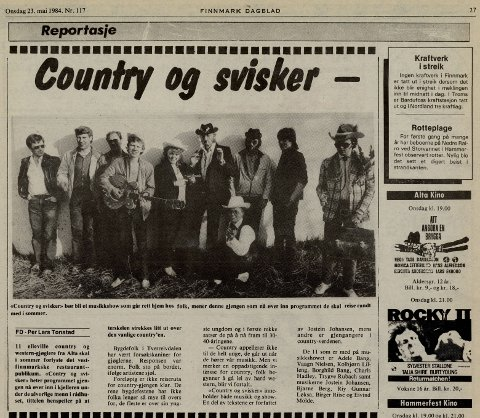 1984: Jostein Johansen var en stor kulturpersonlighet både i Alta og utenfor. Her fra musikkshowet Country og svisker.