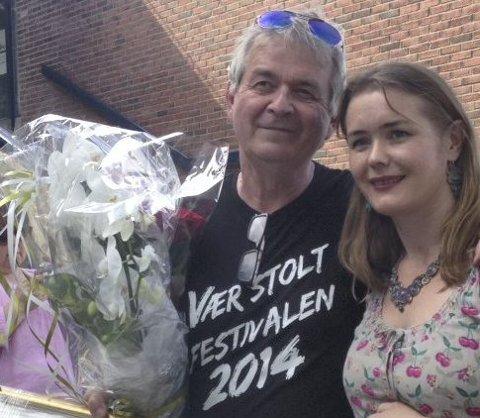 I fjor: Ove Bevolden fikk overrakt Søndre Nordstrands kulturpris av Ingvild Vaggen Malvik. Foto: Oslo sør- satsingen