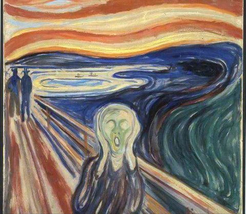 VERDENSBERØMT: Maleriet «Skrik» av Edvard Munch får fast plass på Løten stasjon, i kommunen der kunstneren ble født.
