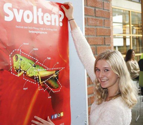 Forskningsdagene 2015 markeres med tre arrangementer i Hønefoss torsdag. Student Marie Fjeld Lycke ved Høgskolen i Buskerud og Vestfold er klar.