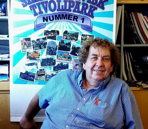 GLEDER SEG: Daglig drifter av Skandinavisk tivolipark, Roy Andersen (63), gleder seg til åpningen av tivoliet på Slitu.