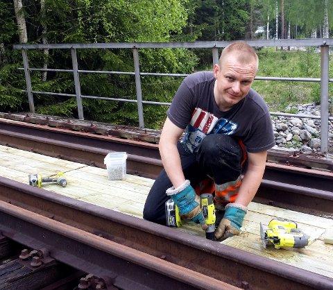 Ivrig: Nils Håkon Sandersen er leder i Nye Valdresbanen og daglig leder i AS Valdresbanen.Foto: Privat