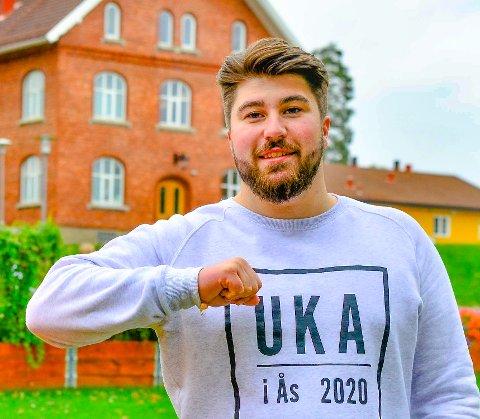 Mathias Kilsti Hals, markedsføringsassistent under UKA i Ås 2020.