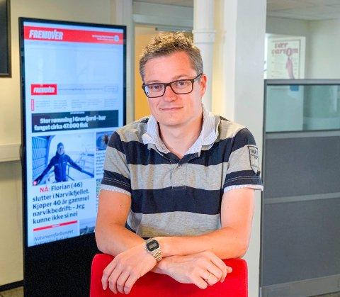 Fornøyd: Administrerende direktør og sjefredaktør, Christian Senning Andersen er fornøyd med resultatet i 2018.