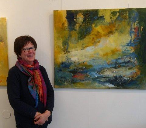 MALER TIL MUSIKK: Søndag 3. februar åpner utstillingen på Galleri Verftsporten, med Lise Bergene