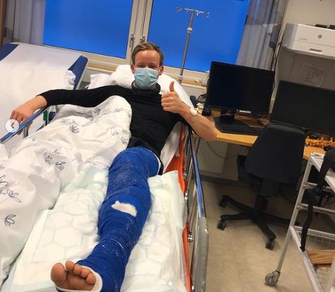 Støtteerkæringene strømmer på til uheldige Mikael Gunnulfsen som brakk leggbeinet i ulykken i OL-løypa i Lillehammer.