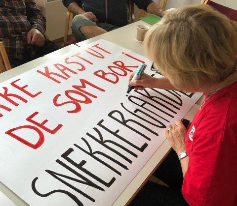 Skriver: Randi Eek Thorsen (Ap) har selv ført parolen om Snekkergården i pennen.