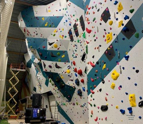 Tirsdag er første sjanse til å teste den nye veggen. Foto: Håvard Skomedal Torvanger