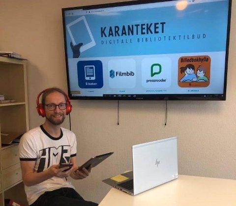 Fungerende biblioteksjef, Joep Aarts og Meieriet bibliotek samarbeider med Nordlands fylkesbibliotek om Karanteket.