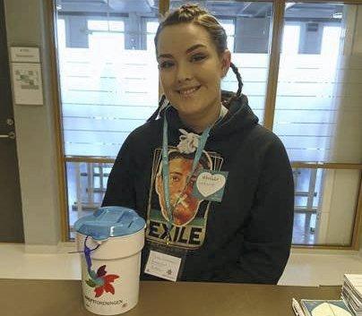 Leder: Rebekka Hansen er komitèleder for Krafttak mot kreft ved Ski videregående skole.